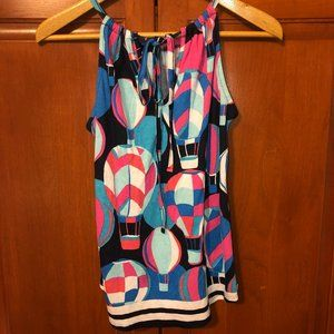 Crown and Ivy Navy Pattern Top Size Small NWT
